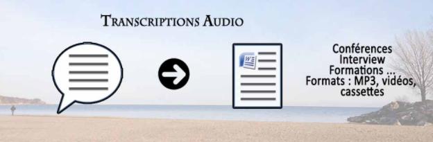 transcription audio conférence